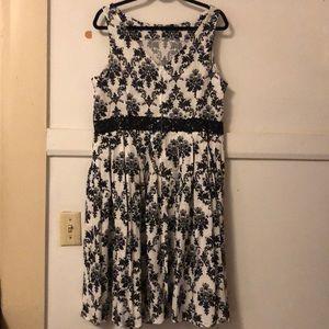 Unique Vintage Dresses - Unique Vintage Damask Summer Dress